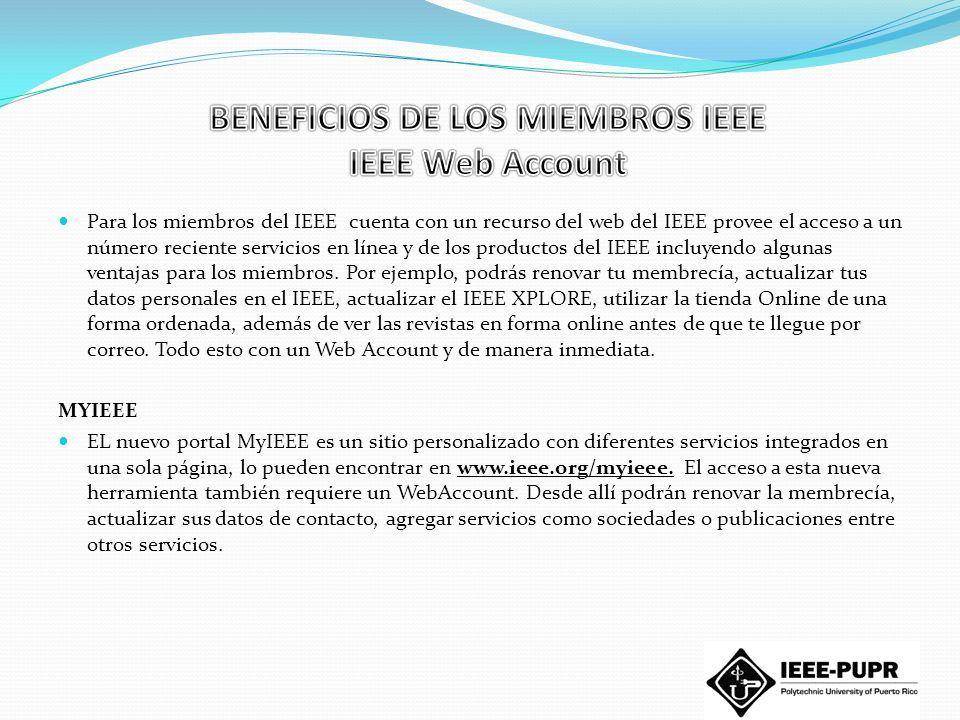 IEEE Membership : $ 35.00 (todo el año), $12.50 (medio año, a partir del 1 de marzo del 2010.) IEEE Computer Society: $24.00 (todo el año), $12.00 (medio año, a partir del 1 de marzo del 2010.) ¿Todos estos beneficios por solo $59.00 al año.
