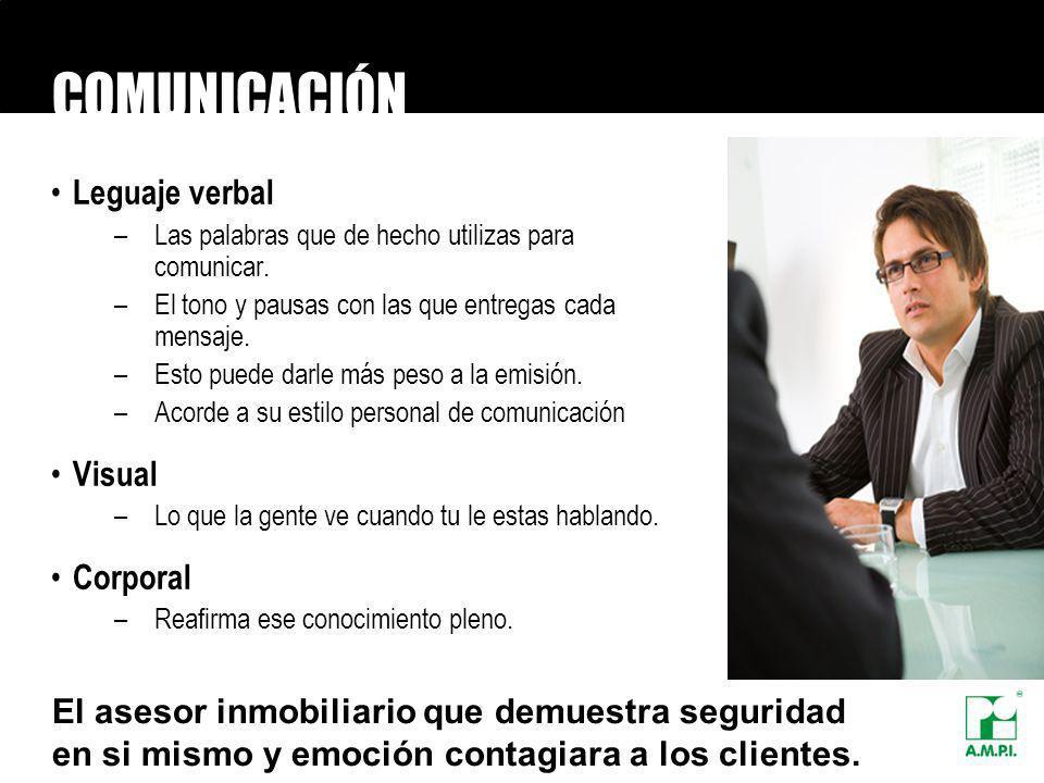 COMUNICACIÓN Leguaje verbal –Las palabras que de hecho utilizas para comunicar. –El tono y pausas con las que entregas cada mensaje. –Esto puede darle