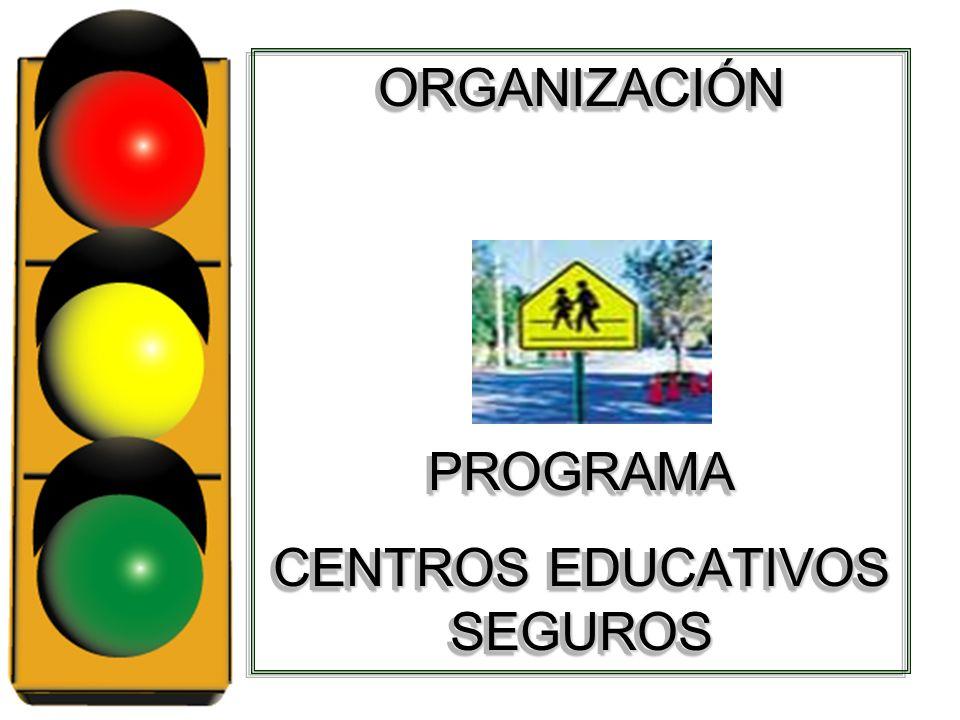 ORGANIZACIÓNPROGRAMA CENTROS EDUCATIVOS SEGUROS ORGANIZACIÓNPROGRAMA