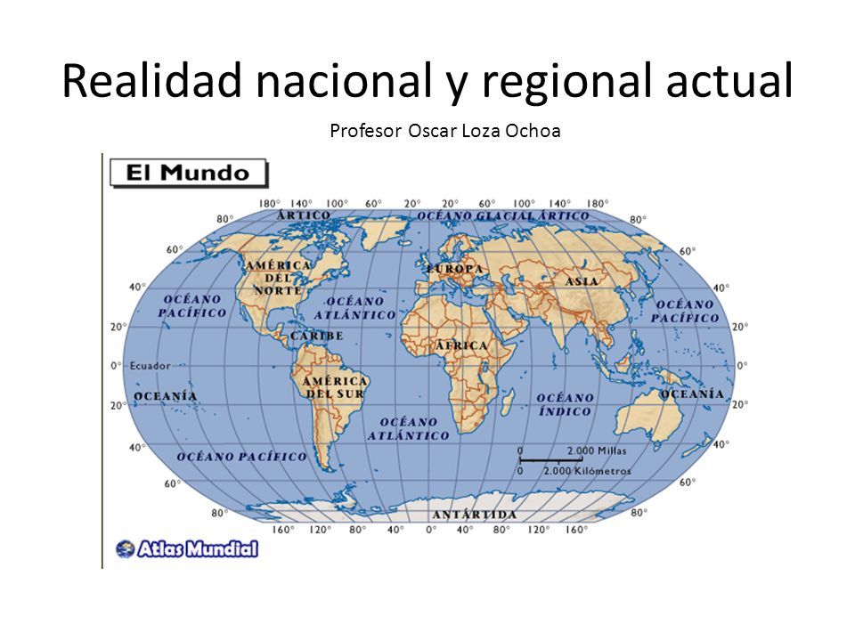 Realidad nacional y regional actual Profesor Oscar Loza Ochoa