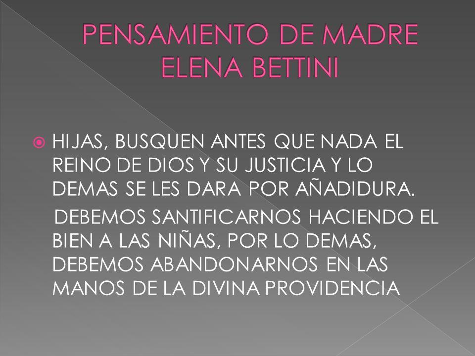HIJAS, BUSQUEN ANTES QUE NADA EL REINO DE DIOS Y SU JUSTICIA Y LO DEMAS SE LES DARA POR AÑADIDURA. DEBEMOS SANTIFICARNOS HACIENDO EL BIEN A LAS NIÑAS,