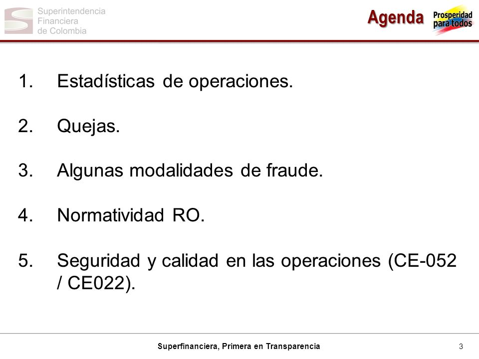 3 Superfinanciera, Primera en Transparencia Agenda