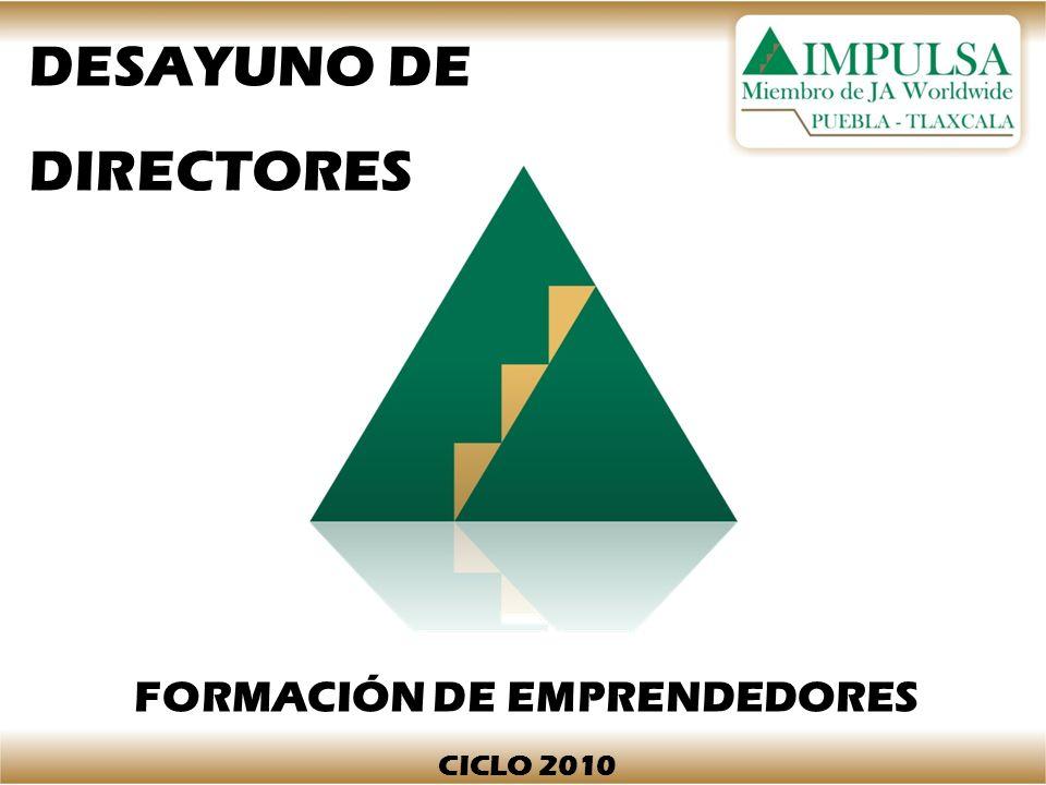 DESAYUNO DE DIRECTORES FORMACIÓN DE EMPRENDEDORES CICLO 2010