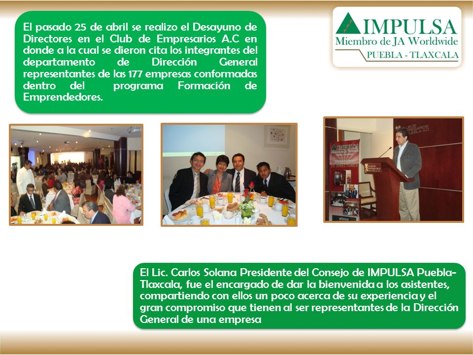 Posteriormente el Lic.Francisco Tavera Chávez le dio la bienvenida a los ponentes: Lic.