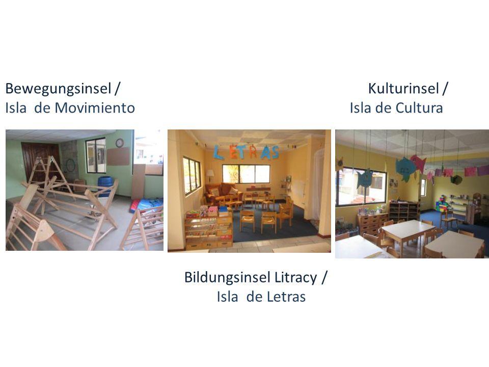 Bewegungsinsel / Isla de Movimiento Bildungsinsel Litracy / Isla de Letras Kulturinsel / Isla de Cultura