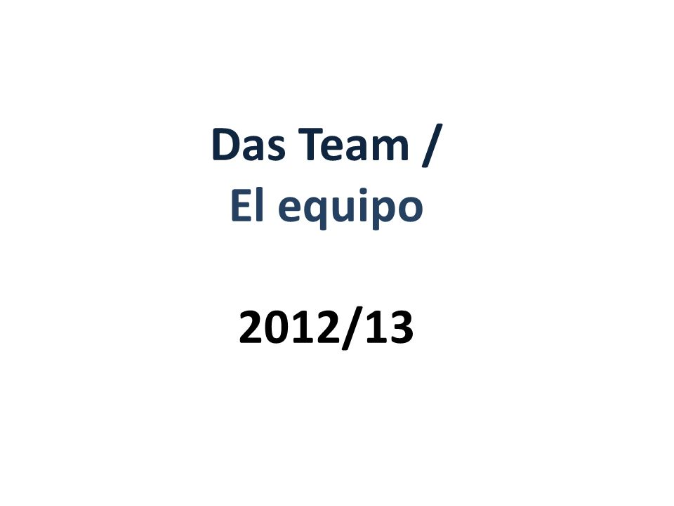 Das Team / El equipo 2012/13