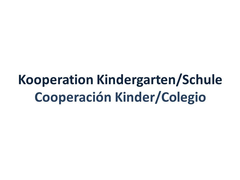 Kooperation Kindergarten/Schule Cooperación Kinder/Colegio