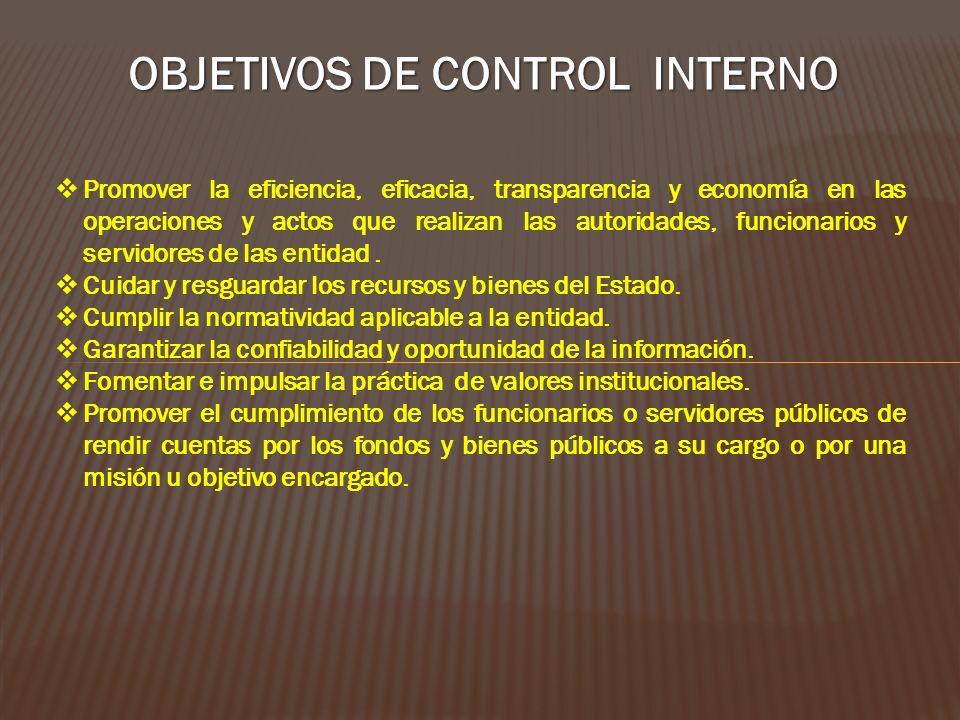 NORMAS DE CONTROL INTERNO RESOLUCIÓN DE CONTRALORIA N° 320-2006-CG – APRUEBA NORMAS DE CONTROL INTERNO.