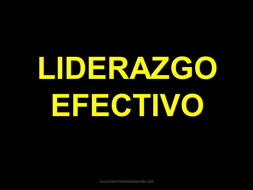LIDERAZGO EFECTIVO www.crecimientosostenido.com