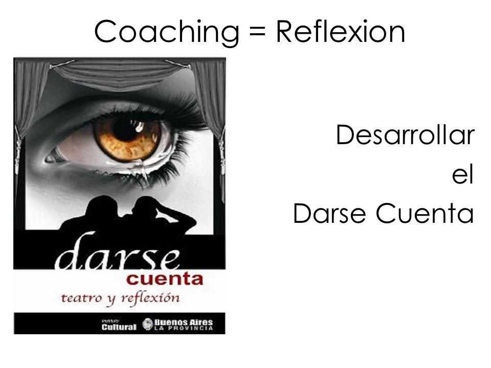 Desarrollar el Darse Cuenta Coaching = Reflexion