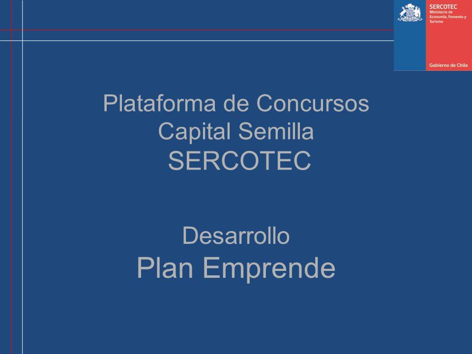 Plataforma de Concursos Capital Semilla SERCOTEC Desarrollo Plan Emprende
