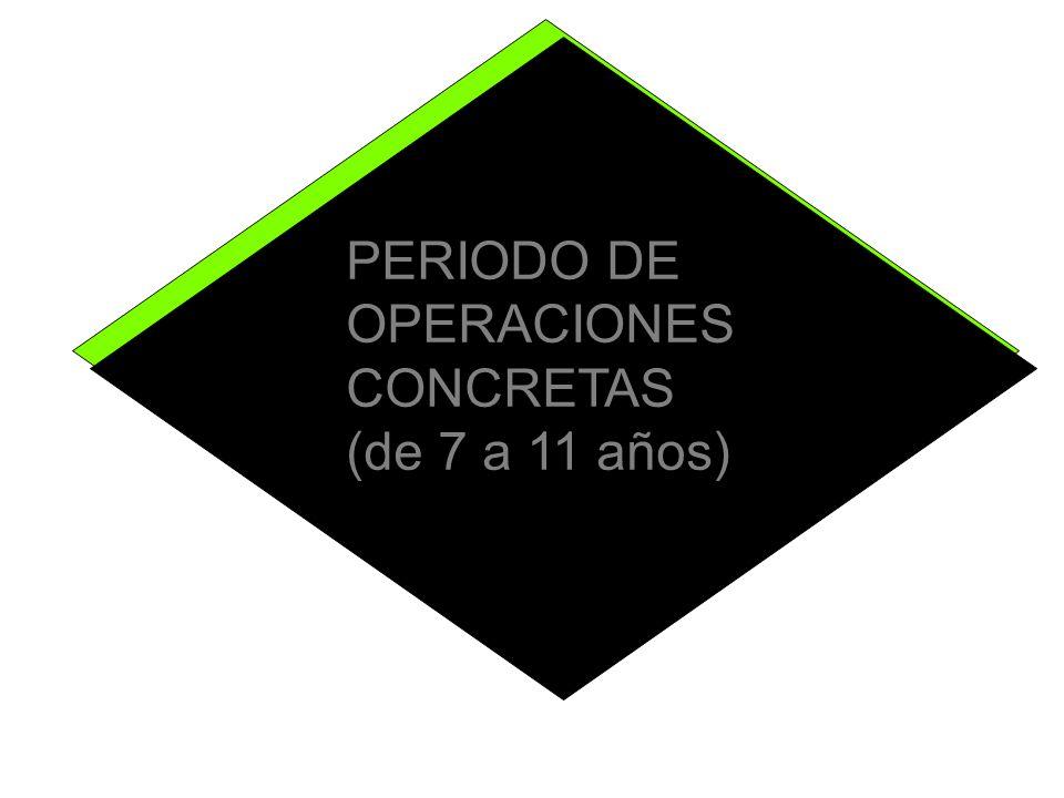 PERIODO DE OPERACIONES CONCRETAS (de 7 a 11 años)