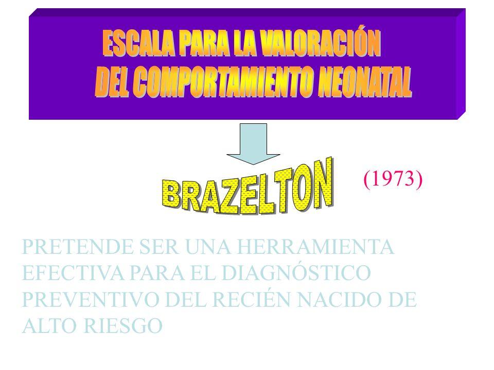 (1973) PRETENDE SER UNA HERRAMIENTA EFECTIVA PARA EL DIAGNÓSTICO PREVENTIVO DEL RECIÉN NACIDO DE ALTO RIESGO