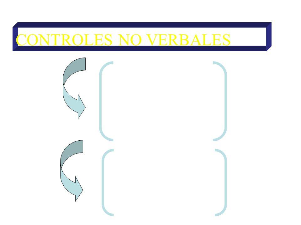 CONTROLES NO VERBALES DE ATENCIÓN Directivas Prohibitivas DE ACCIÓN Directivas Prohibitivas