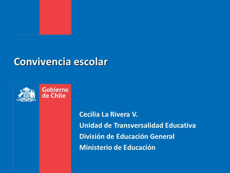 Convivencia escolar Cecilia La Rivera V. Unidad de Transversalidad Educativa División de Educación General Ministerio de Educación