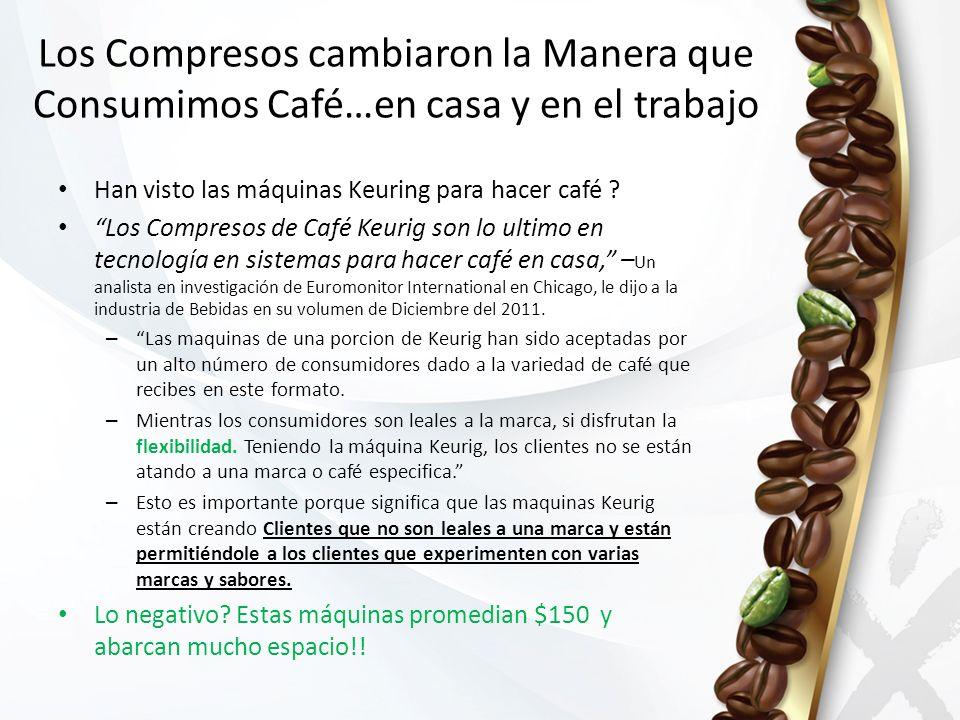 Han visto las máquinas Keuring para hacer café ? Los Compresos de Café Keurig son lo ultimo en tecnología en sistemas para hacer café en casa, – Un an