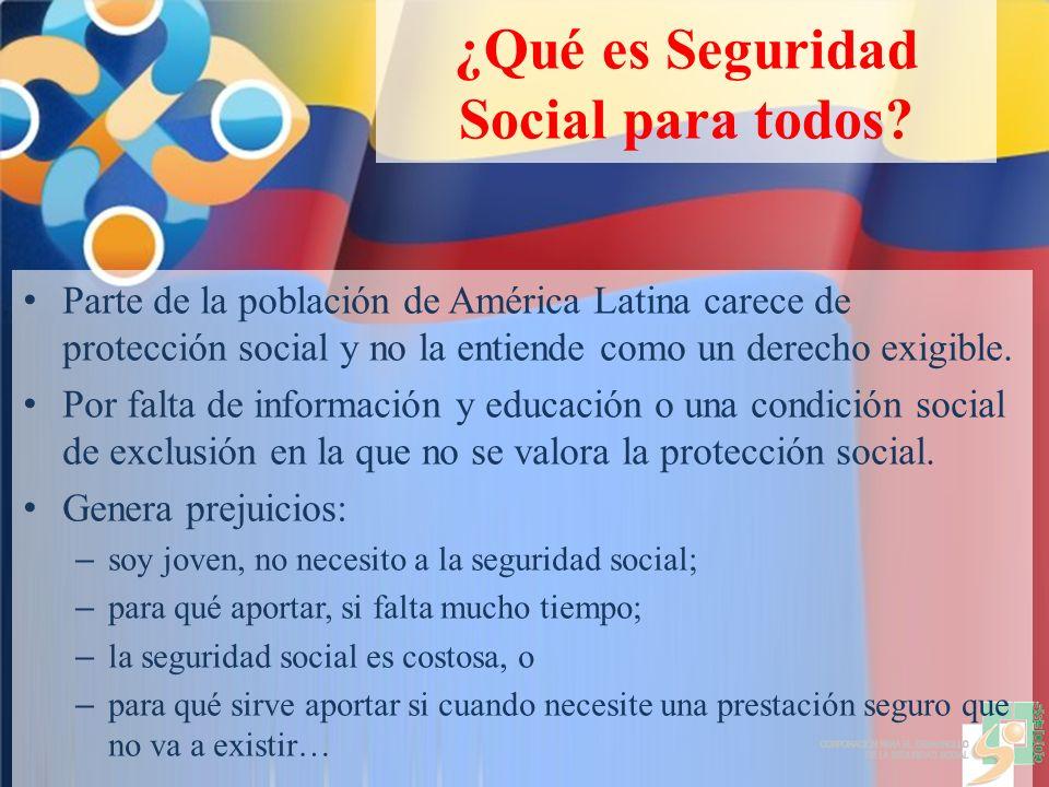 ¿Qué es Seguridad Social para todos.