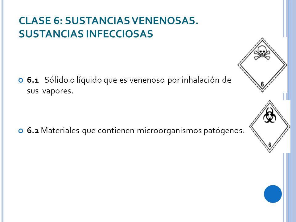 CLASE 6: SUSTANCIAS VENENOSAS.
