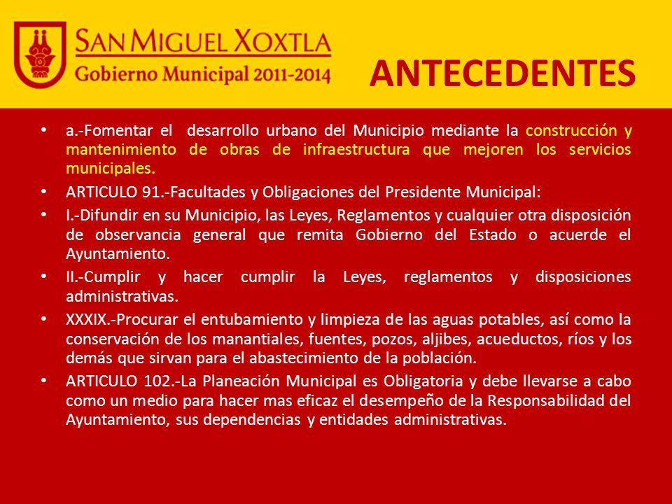LEY ORGANICA MUNICIPAL: ARTICULO 1.-La presente Ley es de orden publico y de observancia general en los Municipios que conforman el Estado Libre y Sob