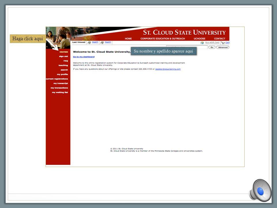 Llene el formulario Seleccione Non-Student