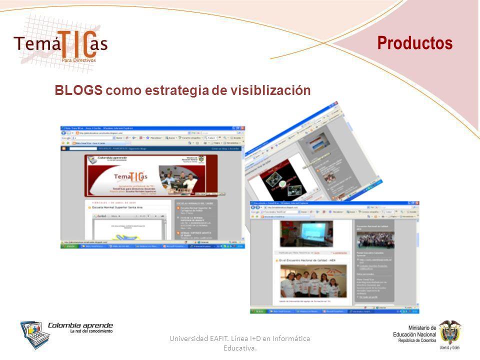 BLOGS como estrategia de visiblización Productos Universidad EAFIT.