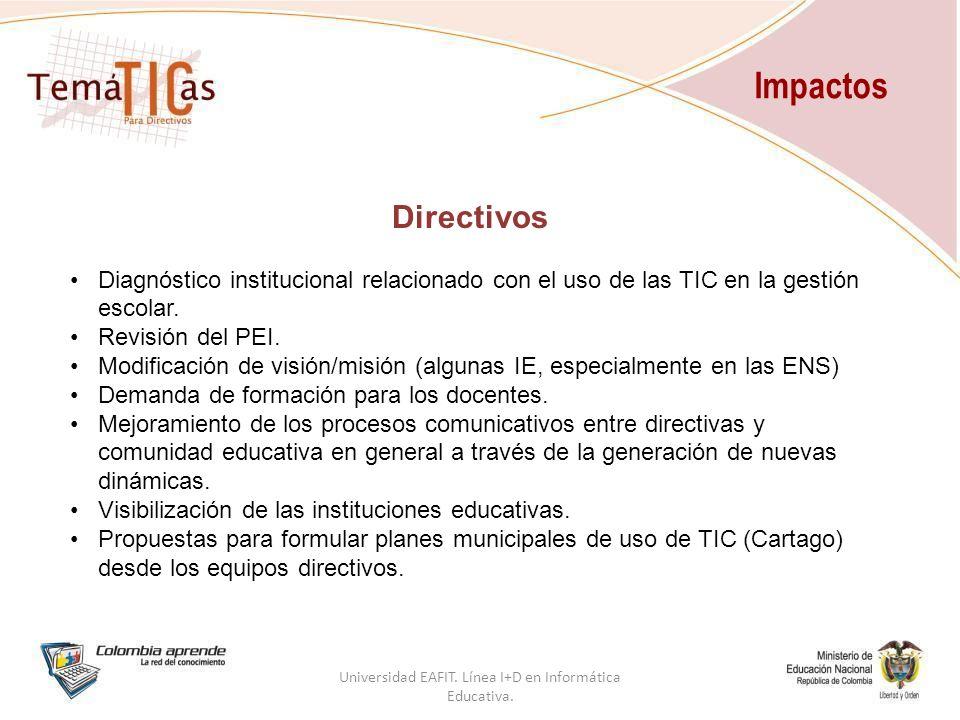 Directivos Diagnóstico institucional relacionado con el uso de las TIC en la gestión escolar.