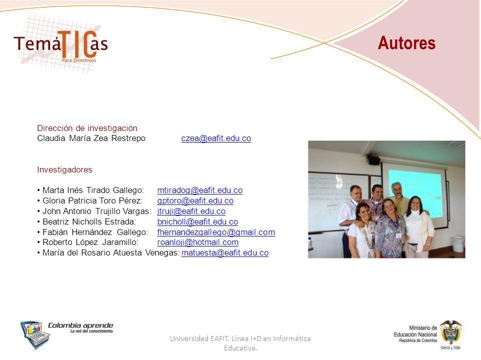 Universidad EAFIT. Línea I+D en Informática Educativa.