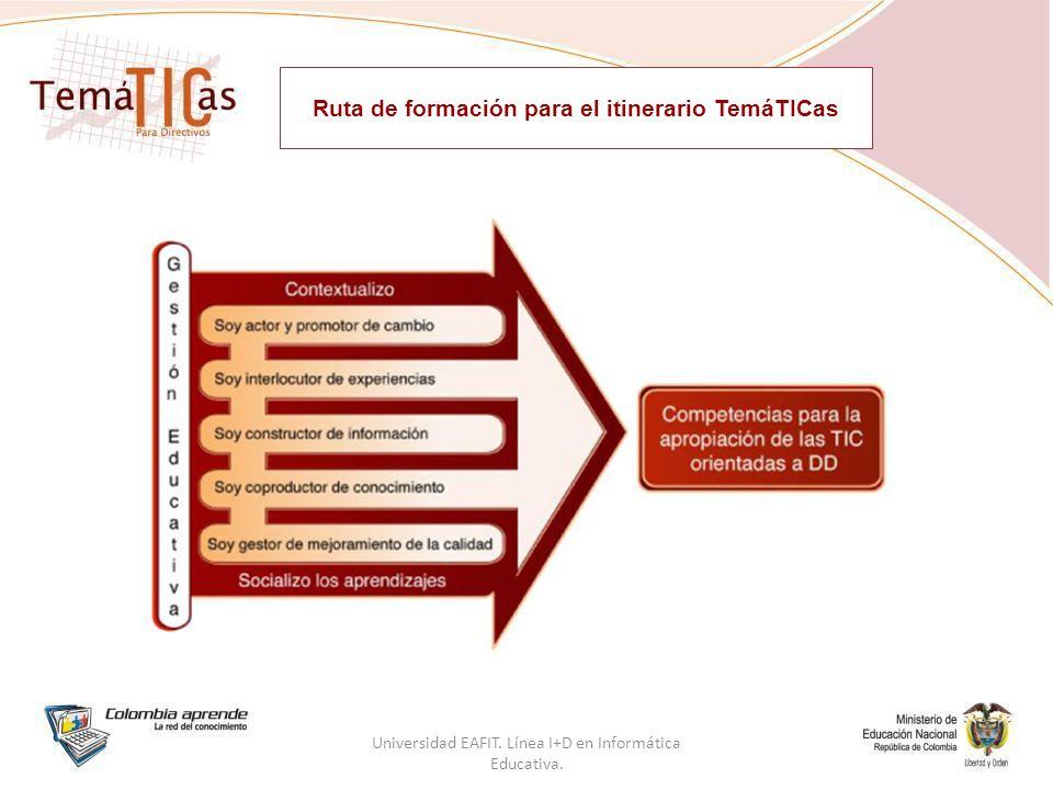 Ruta de formación para el itinerario TemáTICas Universidad EAFIT.
