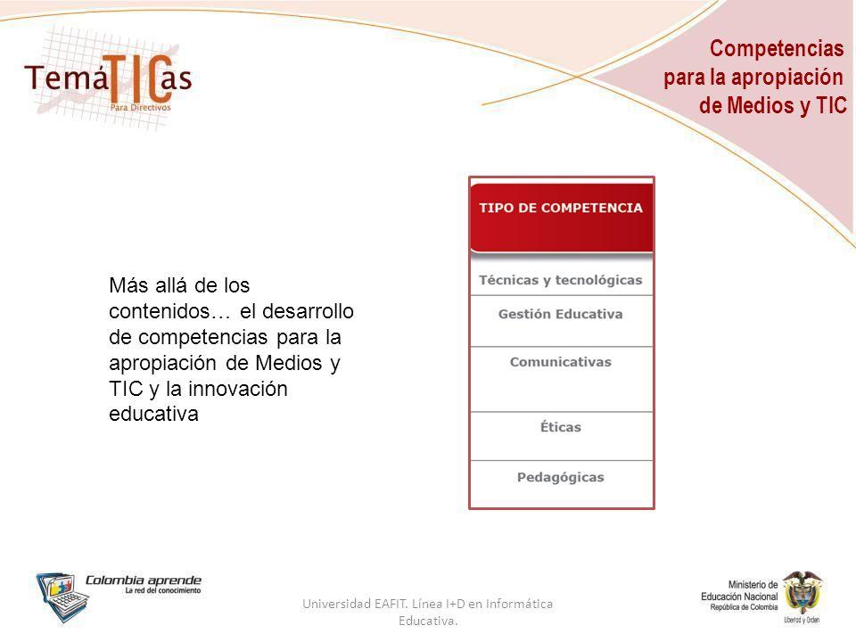 Competencias para la apropiación de Medios y TIC Universidad EAFIT.