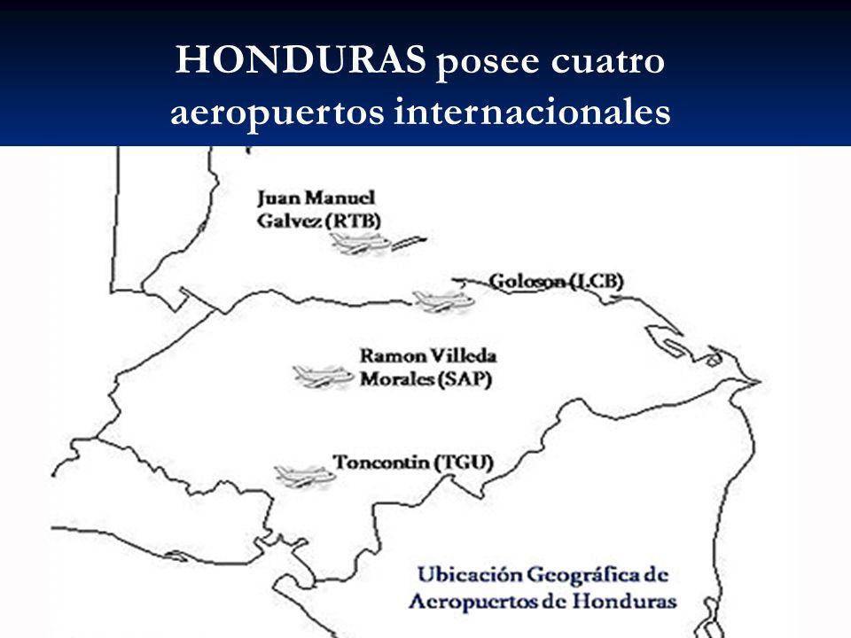 HONDURAS posee cuatro aeropuertos internacionales