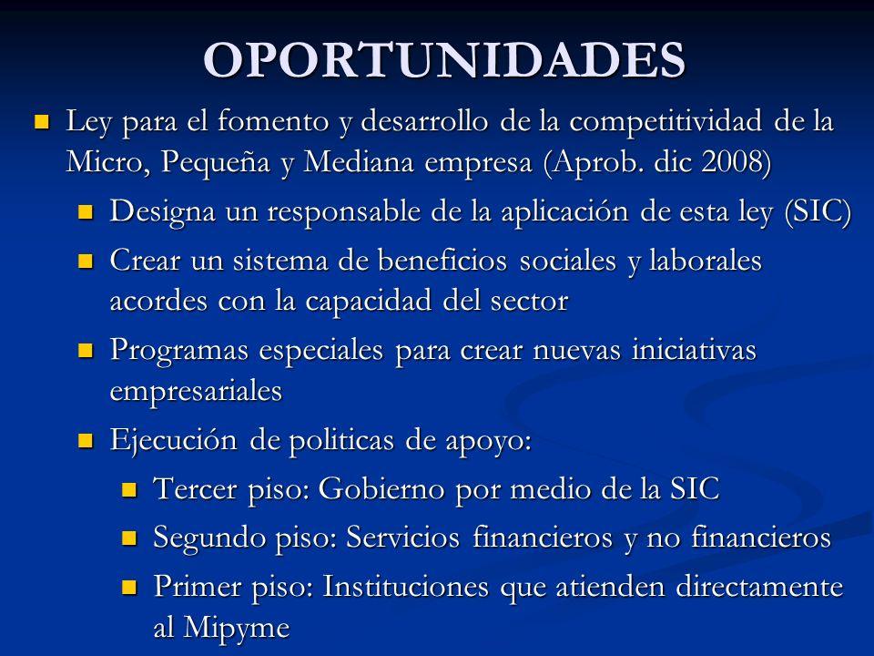 OPORTUNIDADES Ley para el fomento y desarrollo de la competitividad de la Micro, Pequeña y Mediana empresa (Aprob.