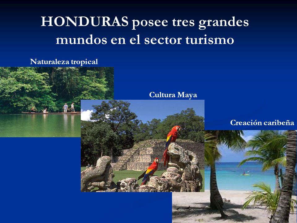 HONDURAS posee tres grandes mundos en el sector turismo Naturaleza tropical Creación caribeña Cultura Maya