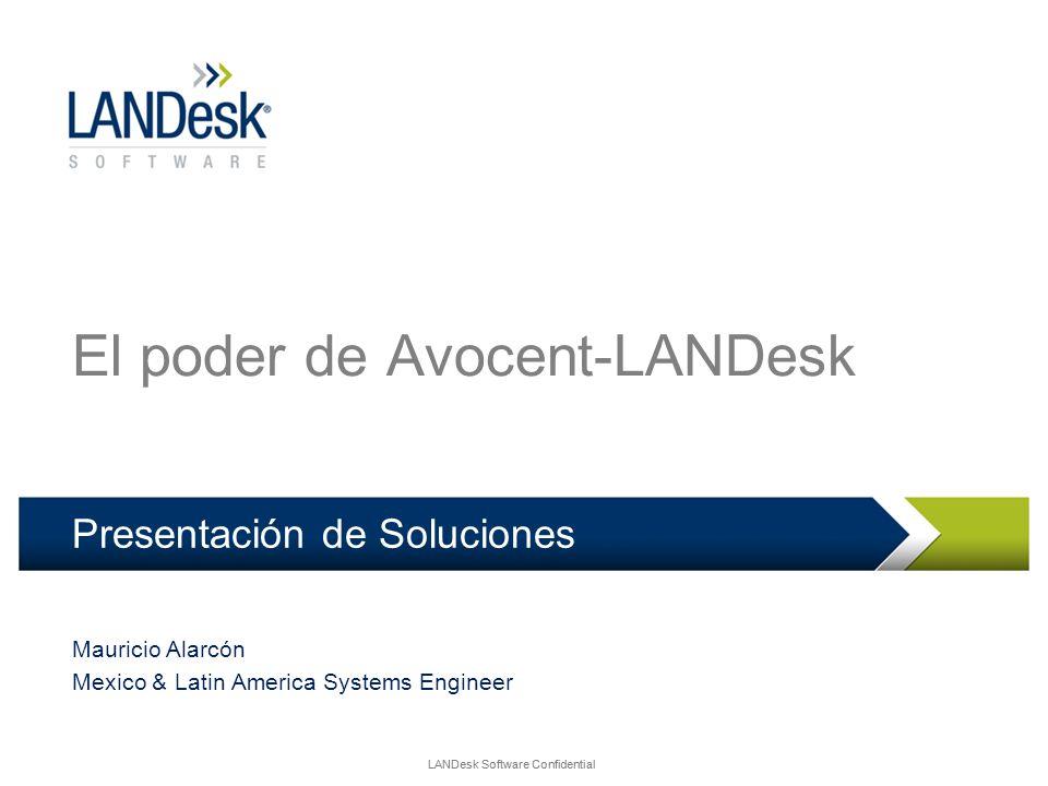 LANDesk Software Confidential El poder de Avocent-LANDesk Presentación de Soluciones Mauricio Alarcón Mexico & Latin America Systems Engineer