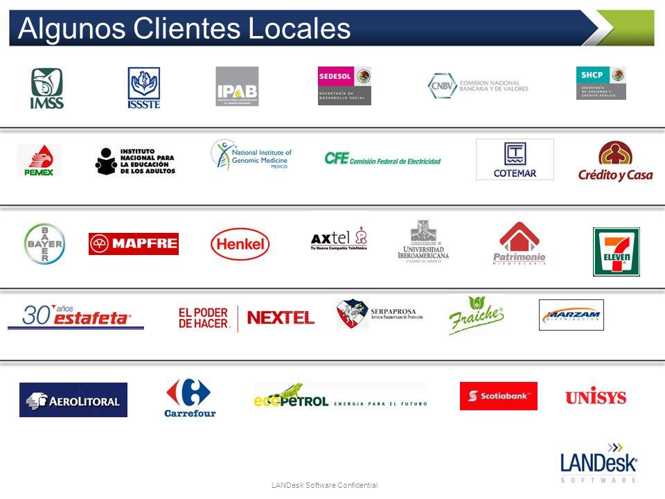 LANDesk Software Confidential Algunos Clientes Locales