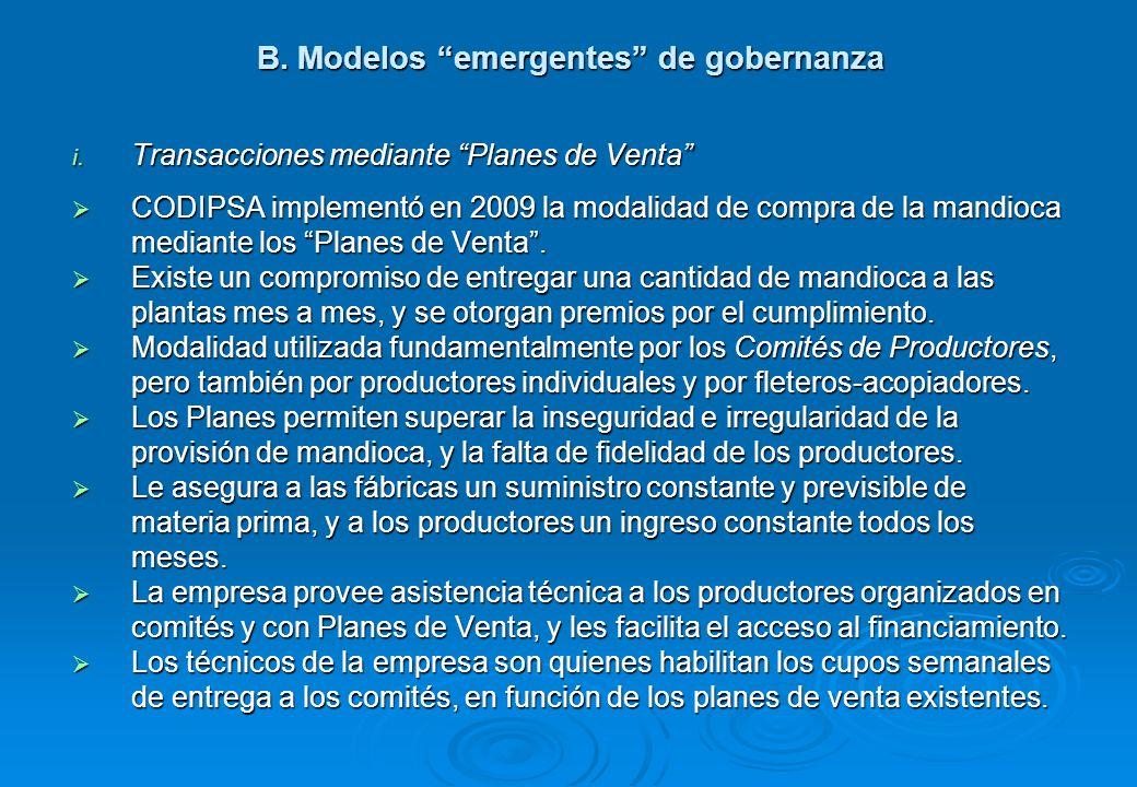 B.Modelos emergentes de gobernanza i.