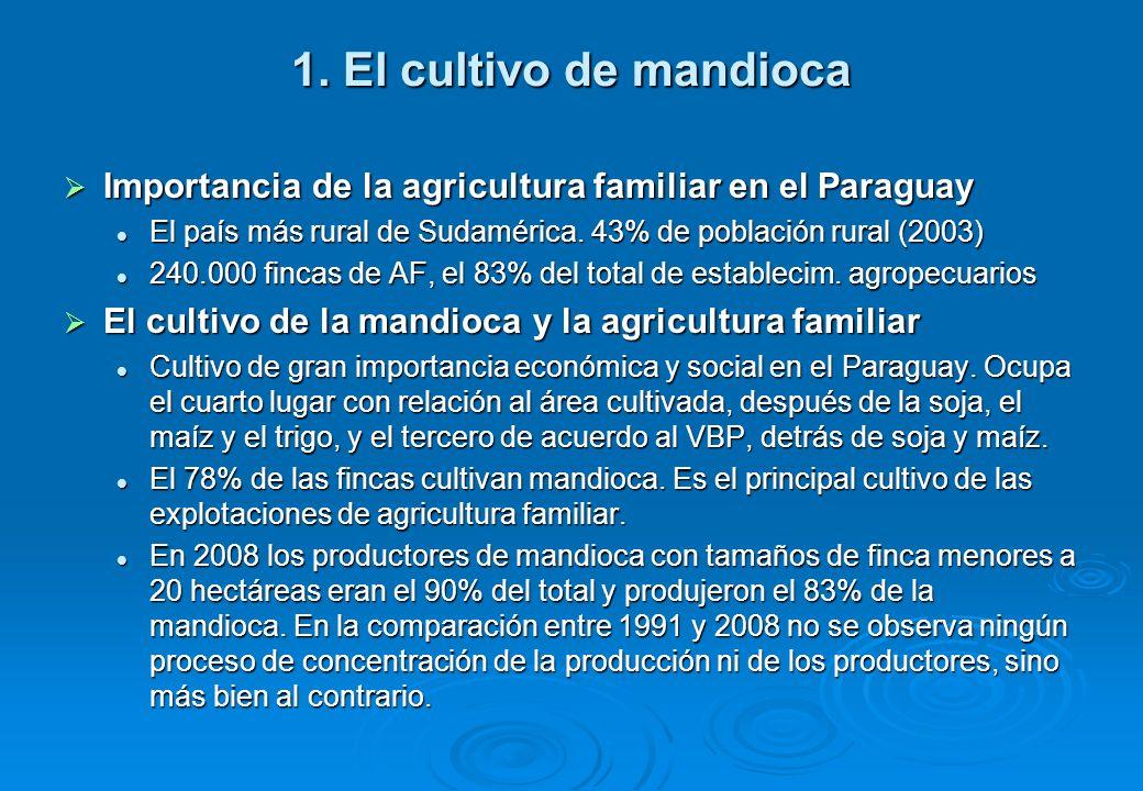 1. El cultivo de mandioca Importancia de la agricultura familiar en el Paraguay Importancia de la agricultura familiar en el Paraguay El país más rura