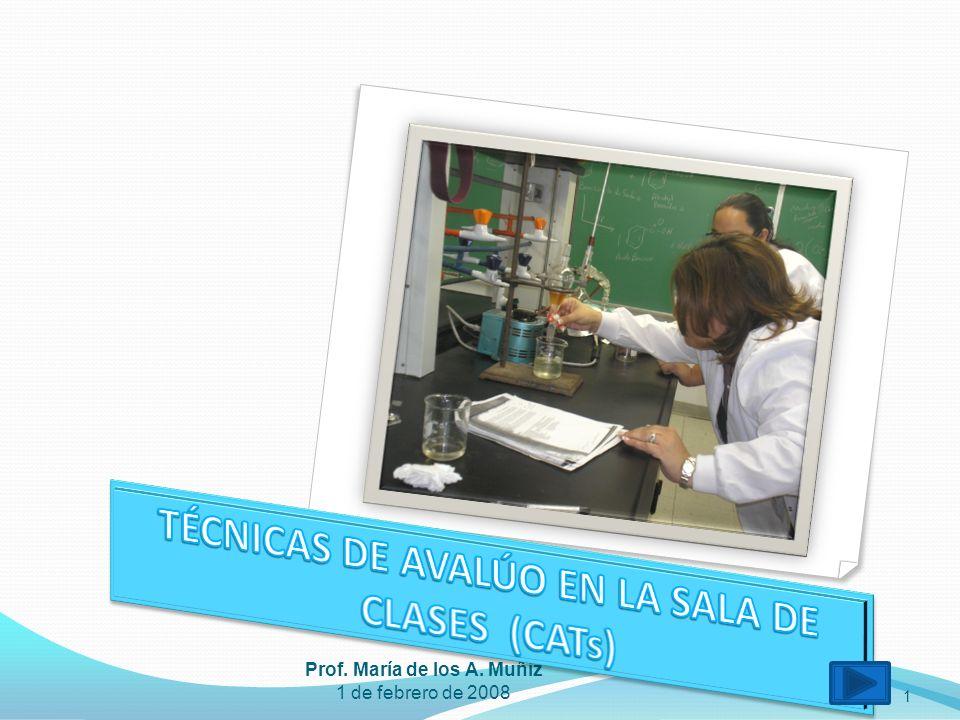 1 Prof. María de los A. Muñiz 1 de febrero de 2008