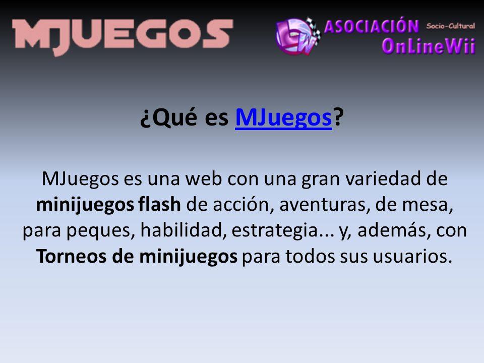 ¿Qué es MJuegos?MJuegos MJuegos es una web con una gran variedad de minijuegos flash de acción, aventuras, de mesa, para peques, habilidad, estrategia