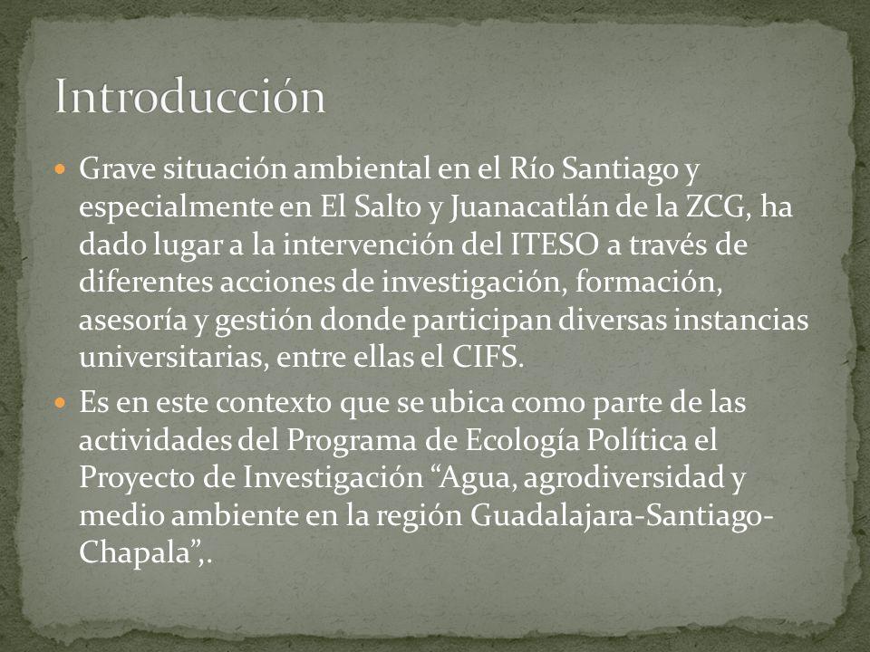 Grave situación ambiental en el Río Santiago y especialmente en El Salto y Juanacatlán de la ZCG, ha dado lugar a la intervención del ITESO a través d
