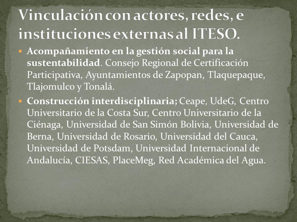 Acompañamiento en la gestión social para la sustentabilidad. Consejo Regional de Certificación Participativa, Ayuntamientos de Zapopan, Tlaquepaque, T