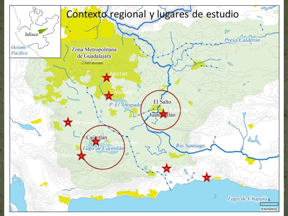 Contexto regional y lugares de estudio Emmanuel Los Castros CEFAS-Paye Ezequiel Nereida Ocotlán 1560 msnm Ana Luz Ecocuexco-Felipe Rafael