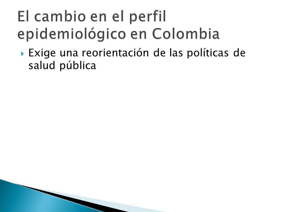 Exige una reorientación de las políticas de salud pública