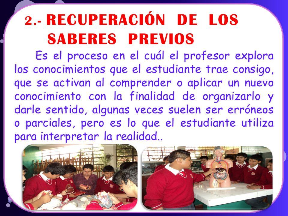 1.- LA MOTIVACIÓN Es el proceso permanente mediante el cuál el docente crea las condiciones, despierta y mantiene el interés del estudiante por su apr