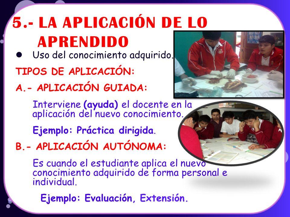 4.- PROCESAMIENTO DE LA INFORMACIÓN O CONSTRUCCIÓN Es la fase en la cual el estudiante va adquiriendo los nuevos conocimientos (Aprendizaje Significat