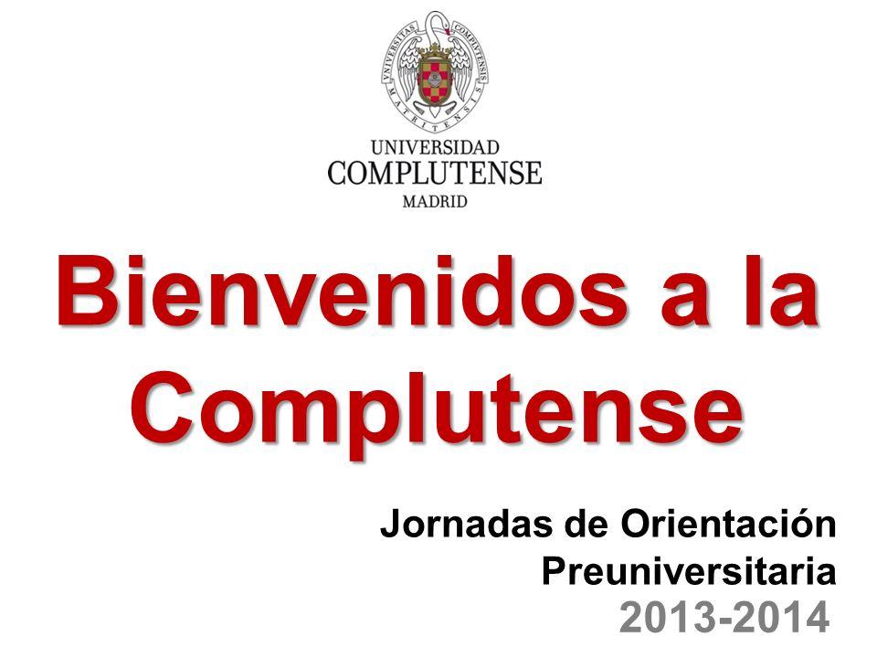Desarrollo de la jornada: 10,30- 11,30 h.Presentación de la PAU y Grados de la UCM.
