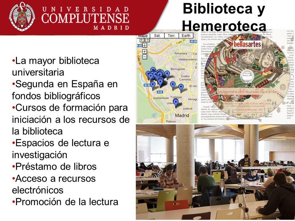 La mayor biblioteca universitaria Segunda en España en fondos bibliográficos Cursos de formación para iniciación a los recursos de la biblioteca Espac