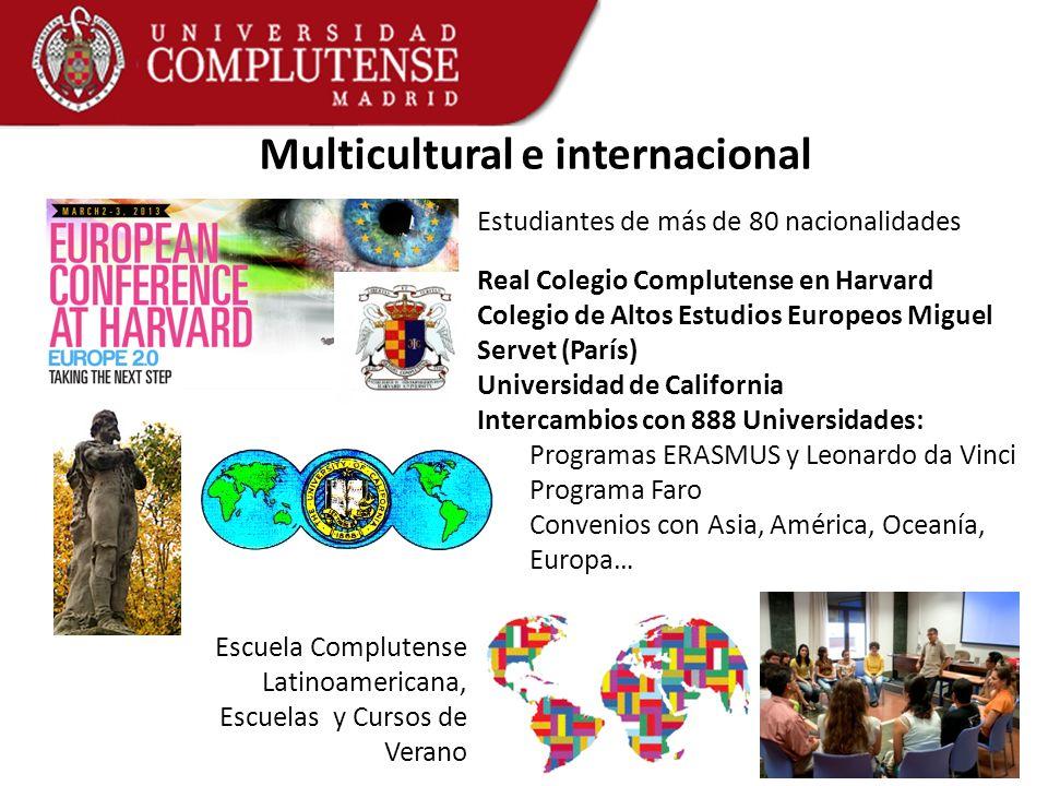 Multicultural e internacional Estudiantes de más de 80 nacionalidades Real Colegio Complutense en Harvard Colegio de Altos Estudios Europeos Miguel Se