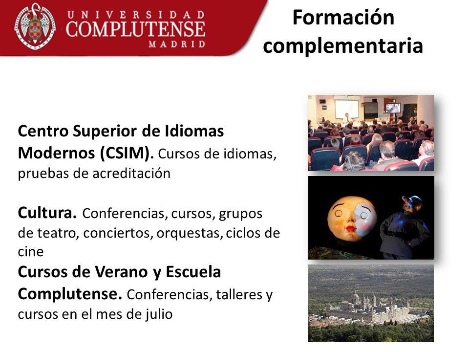 Centro Superior de Idiomas Modernos (CSIM). Cursos de idiomas, pruebas de acreditación Cultura. Conferencias, cursos, grupos de teatro, conciertos, or