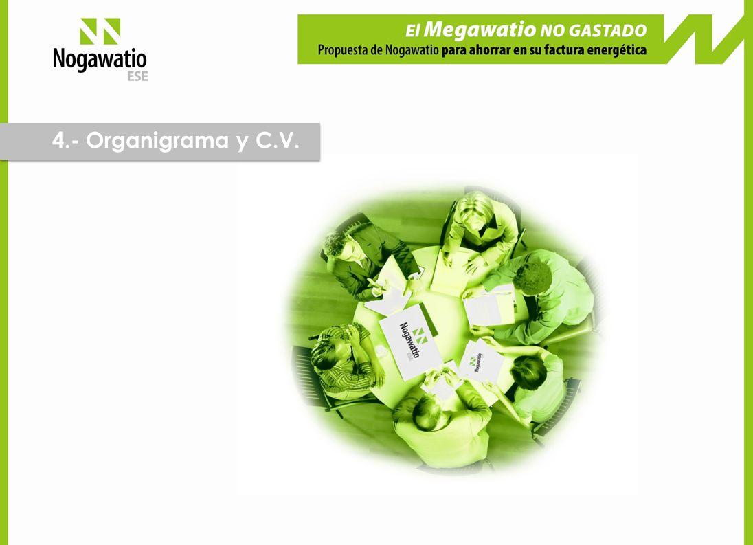 4.- Organigrama y C.V.