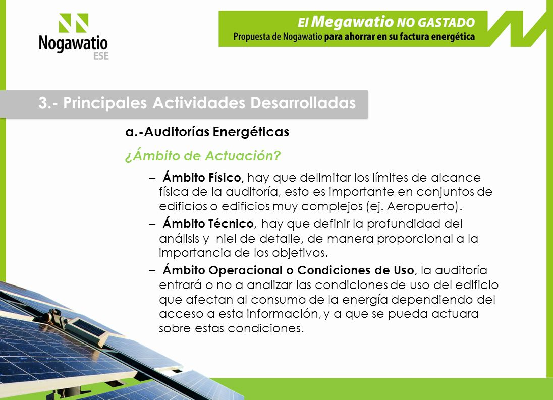 a.-Auditorías Energéticas ¿Ámbito de Actuación.